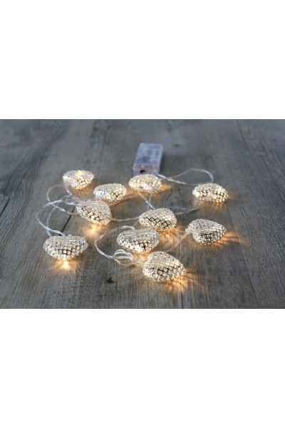 Guirlande lumineuse boules marocaines argent mariage chic - Guirlande lumineuse sans branchement ...