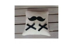 Coussin d'Alliances en Lin Moustaches - Création Francaise Lucy Jeanne Collection